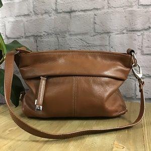 🍃Soft leather Tignanello brown shoulder bag purse